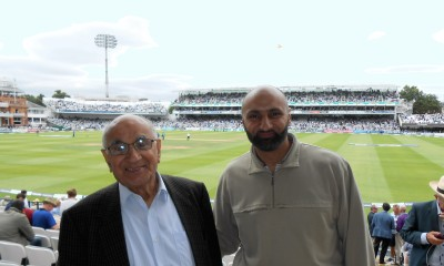 With my father at Lords Cricket Ground, London, on 15 July 2016 to watch Pakistan vs England