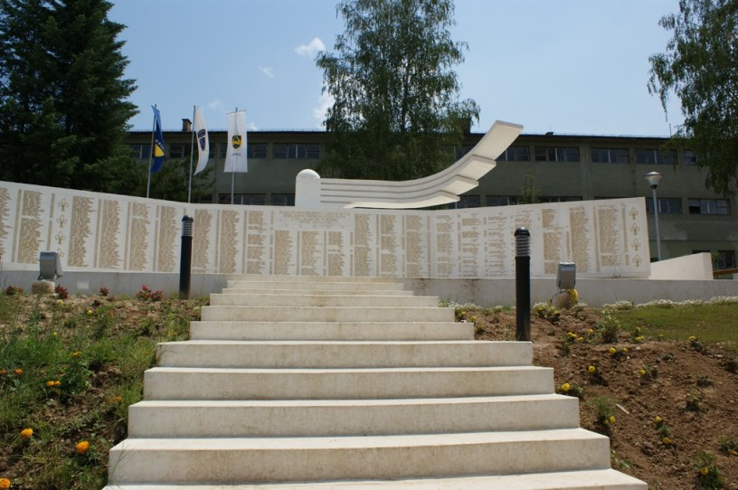 War memorial, Safvet-bega Bašagića Street, Zavidovic town centre, central Bosnia