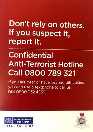 Police anti terrorism leaflet