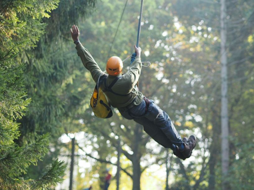 Me on a zipwire in London, October 2016