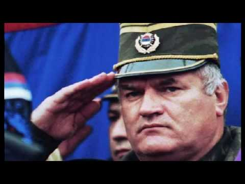 General Ratko Mladic, the man responsible for the massacre at Srebrenica, eastern Bosnia, in July 1995