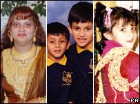 Family of Rahan Arshad, Uzma Arshad and Adam (11), Abbas (8) and Henna (6) - BBC