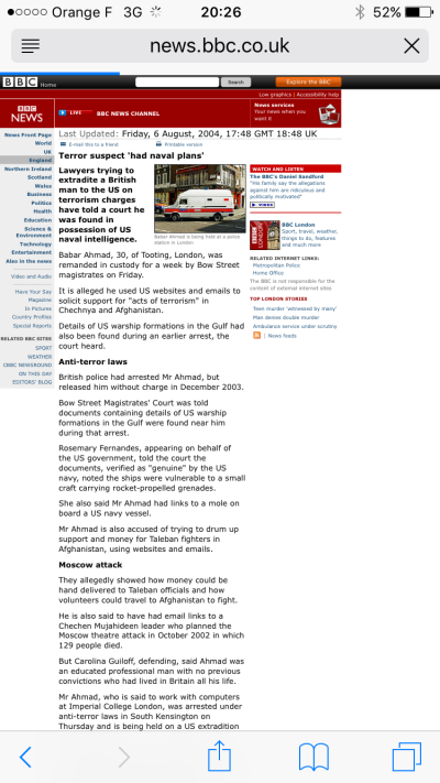 BBC News Article 06 August 2004