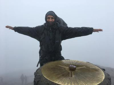 Babar Ahmad at the summit of Mount Snowdon, UK, 14 August 2017