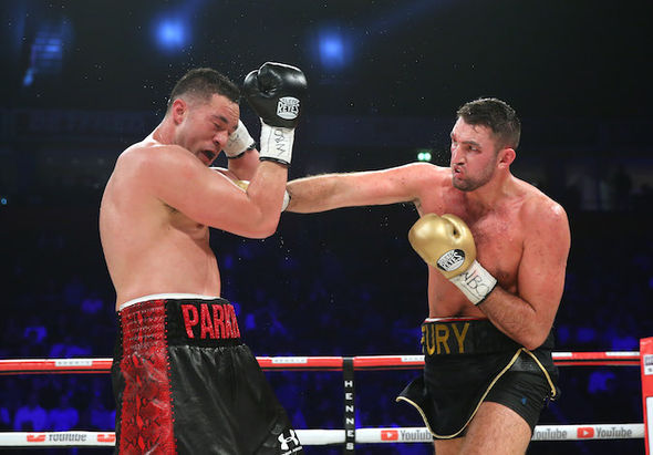 Hughie Fury fights Joseph Parker for the WBO boxing title, Manchester Arena, 23 Sept 2017